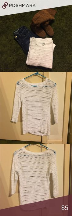 Old Navy 3/4 Sleeves Sweater | Ea, Gray and Sleeve