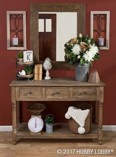 Update your foyer with trendy, farmhouse-industrial elements for an elegant, earthy feel.