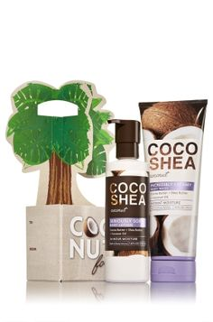 CocoShea Coconut -  Coconuts for You Gift Set  - Bath & Body Works - Our CocoShea Coconut 2-pack Carrier blends two of nature's most nourishing ingredients – vitamin-packed cocoa butter + rich, moisturizing shea butter – for the ultimate collection of skin-loving formulas. With 24-hour moisture, our Seriously Soft Body Lotion (7.8 fl oz) leaves skin feeling nourished and drenched in hydration while our Incredibly Creamy Body Wash (10 fl oz) gently cleanses with luxurious lather t...