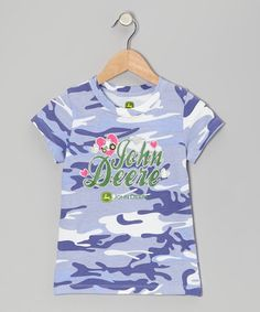 Take a look at this Purple Camouflage Tee - Girls by John Deere on #zulily today!