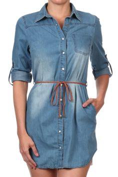 Denim Ombre Dress  Buy is Now!   www.3029boutique.com