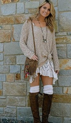 Free People Slips we love! Wear it with a sweater over top and thigh high socks and boots! So cute :) www.jbandme.com
