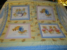 Handmade Baby Peter Rabbit Cotton Baby/Toddler Quilt-Newly Made 2015 by quilty61 on Etsy