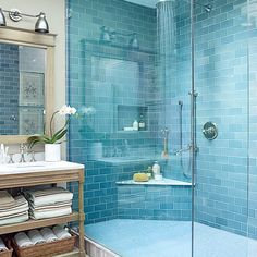 From high-end to laid-back, updated to old-fashioned, indoors to out, these coastal bathrooms are filled with smart and stunning design ideas.