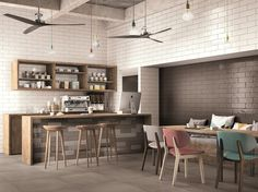 Indoor white-paste wall tiles BRICK GLOSSY by Ragno