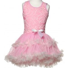 1ffcaf12bcaf #POPATU LITTLE GIRLS' PINK WITH WHITE LACE AND RUFFLES #PETTIDRESS http:/