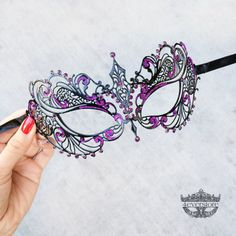 Masquerade Mask Black Masquerade Mask  Masquerade by 4everstore