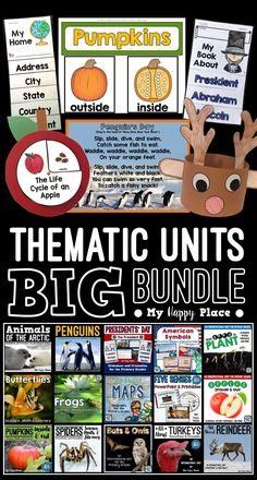 15 thematic units with PowerPoint presentations to use throughout the school year in kindergarten and first grade!