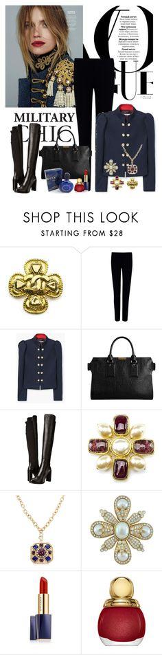 """Military Jacket"" by dezaval ❤ liked on Polyvore featuring Chanel, Joseph, MANGO, Burberry, Stuart Weitzman, Ciner, Rochas, Estée Lauder, Christian Dior and vintage"