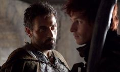 Rufus Sewell and Eddie Redmayne in The Pillars of the Earth