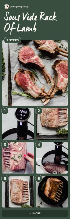 This Sous Vide Rack of Lamb recipe is juicy, tender and delicious. Cooked to a perfect medium-rare. It's perfect for the holidays. // recipes // easy Lamb Recipes, Healthy Recipes, Rack Of Lamb, Sous Vide, Easy Meals, Tasty Dishes, Cooking, Healthy Eating, Beef