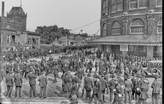 AT THE BALL PARK: 1920 Fans line outside of Ebbets Field in Brooklyn