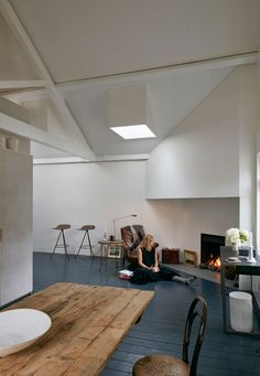 Minimalist Live-Work Space in Greater London, UK by Jonathan Tuckey Design | Yellowtrace
