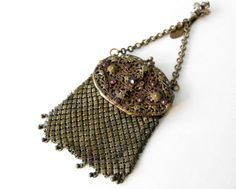 Antique Brass and Amethyst Colored Cabochons Belt by Sfuso on Etsy, $175.00
