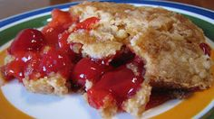 Dump Cake - can be made with white or chocolate cake mix and various pie fillings