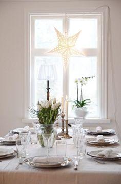 vita tulpaner för julen