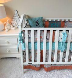 Arrows Crib Bumper Pads Deer Crib Bumper by RitzyBabyOriginal