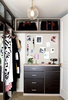 Great use of vertical space in this closet