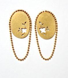 Most charming hand pierced earrings from my Blossom collection. 925 Silver goldplated.