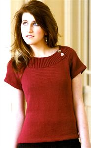 I love this neckline!! So flattering :) Womens Knitting Patterns Boat Neck Top Pattern 9096 8 x DK