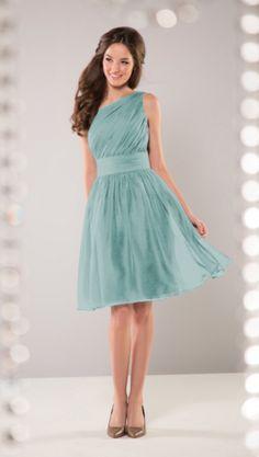 """Jasmine B2 """"B163064"""" chiffon dress in sea mist"""