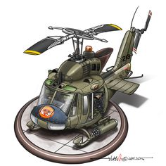 I can't find an Egg-plane model of an Huey so I drew one up instead. Aviation Humor, Aviation Art, Military Helicopter, Military Aircraft, Cartoon Plane, Airplane Drawing, Military Drawings, Military Art, Funny Military
