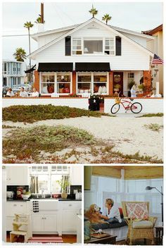 A coastal cottage beach house tour in Newport Beach, CA. This sounds like fun! Seaside Style, Beach Cottage Style, Cottage Style Homes, Beach Cottage Decor, Cozy Cottage, Coastal Cottage, Coastal Living, Cottage Design, Cottage Ideas