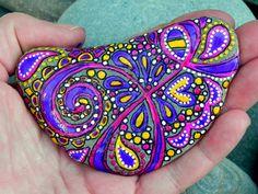 Half Moon Circus / Painted Rock/ Sandi Pike Foundas / Cape Cod. $46.00, via Etsy.