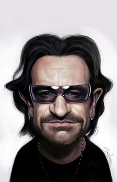Famous Caricatures Gallery | Bono | Caricatures of Famous People!