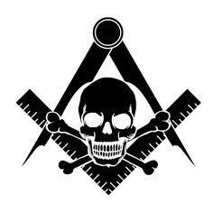 Masonic Skull and Crossbones Decal