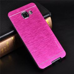 For Samsung Galaxy A5 2016 Case Luxury Motomo Aluminum Metal Brush Plastic Hard Case For Samsung A3 2016 A5 A7 Cover Phone Cases