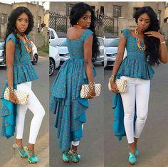 Ankara top African Clothing African fashion hogh low top