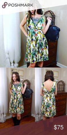 """Modcloth Flora Dress Beautiful """"flora for once in my life""""dress from modcloth. Size small. Best fits size 0-2 Brand-new with tags's. No trades. Dresses Midi"""