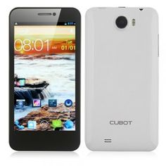 Cubot GT99 Quad Core Android 4.2 HD Display Smart Phone - White - Android Phones
