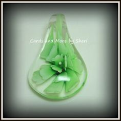 Lampwork Glass Teardrop Pendant  Light by CardsAndMoreBySheri, $4.50
