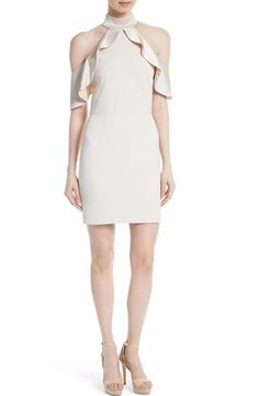 02ec8f42c6eb04 Alice + Olivia Ebony Cold Shoulder A-Line Dress