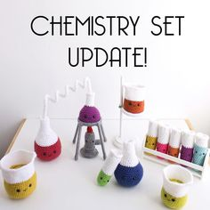 """SHOP ANNOUNCEMENT!! Are you guys ready for this?!! I'll be selling FULL chemistry sets! For those of you who have been very patiently waiting I'm will be offering 5 full chemistry sets on SUNDAY FEBRUARY 21 AT 1PM CST. Listings go live that after noon and sets are all """"made to order"""". These are going to take me awhile to make so that is why I can only offer 5 for right now. Sets will begin shipping mid-April to early May. I also have a few other mini sets that will be available. Make sure..."""