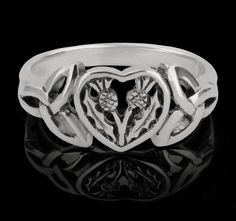 Scottish Thistle Silver Ring. $19.99 -- Love this!!