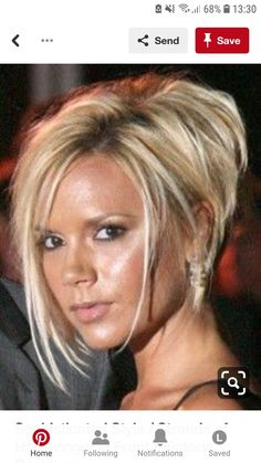 Sophisticated style / Longer strands of hair in front / Victoria Beckham . - Sophisticated style / Longer strands of hair in front / Victoria Beckham - Victoria Beckham Short Hair, Victoria Beckham Hairstyles, Viktoria Beckham, Front Hair Styles, Hair Front, Sassy Hair, Short Bob Hairstyles, Haircut Short, Short Asymetrical Haircuts