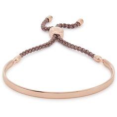 Womens Bracelets & Cuffs Monica Vinader Fiji Friendship 18kt Rose... (9,155 PHP) ❤ liked on Polyvore featuring jewelry, bracelets, bracelet bangle, adjustable cord bracelet, adjustable bracelet, adjustable bangle and cord bracelet