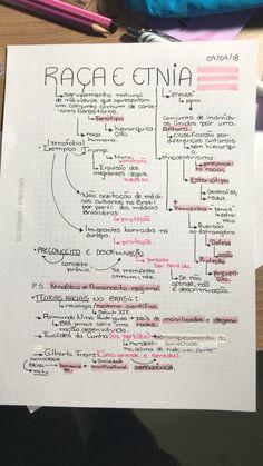 Sociologia: Raça & Etnia Studygram // Resumo // Notes // Stationary //