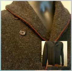 Polo Ralph Lauren 100% Cashmere Shawl Collar Charcoal Gray Sweater M #PoloRalphLauren #ShawlCollar