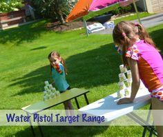 Water Pistol Target Practice - great Summer Fun!
