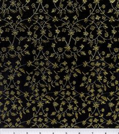 Brocade Fabric-Black-Gold Metallic Vine  : special occasion fabric : apparel fabric : fabric :  Shop | Joann.com