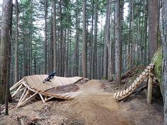 Photo of in Revelstoke, British Columbia, Canada. New stunt Mtb Trails, Mountain Bike Trails, Moutain Bike, Indiana Dunes, Bike Parking, Bike Rider, Happy Trails, Mtb Bike, Pista