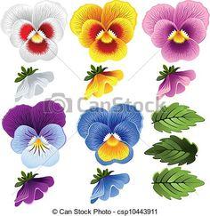 Line Art Icon Patterns Ideas Flower Images, Flower Art, Pansy Flower, Cactus Flower, Fleur Pansy, Watercolor Flowers, Watercolor Art, Art Deco Tattoo, Art Icon