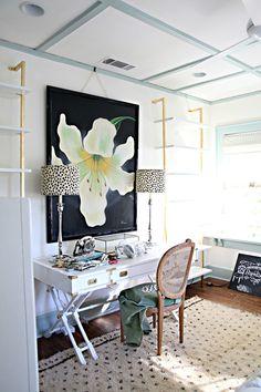 Home Office Decroação escritorio quarto