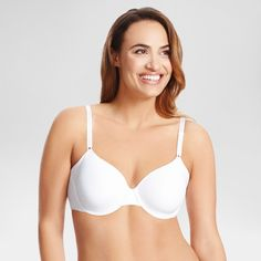 Simply Perfect by Warner's Women's Full Figure Underarm Smoothing Underwire Bra RB0561T -