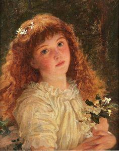 """Sophie Anderson (1823-1903), """"The young flower girl"""""""