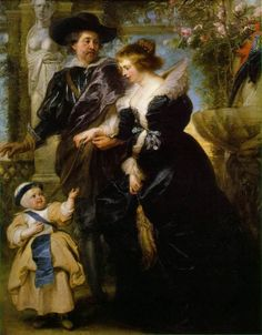 c 1639 Peter Paul Rubens (1577-1640) Rubens with His Wife Helena Fourment and Their Son Peter Paul